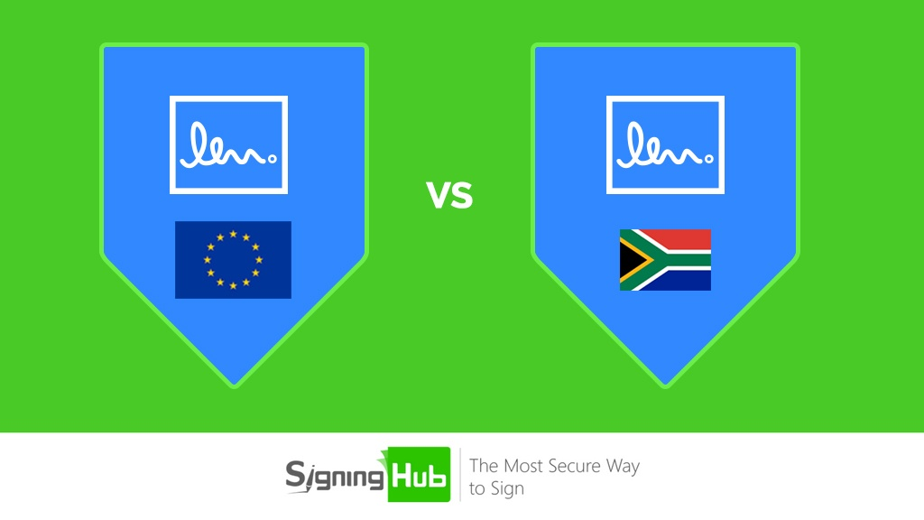 What's the difference between EU vs South Africa e-Signatures?
