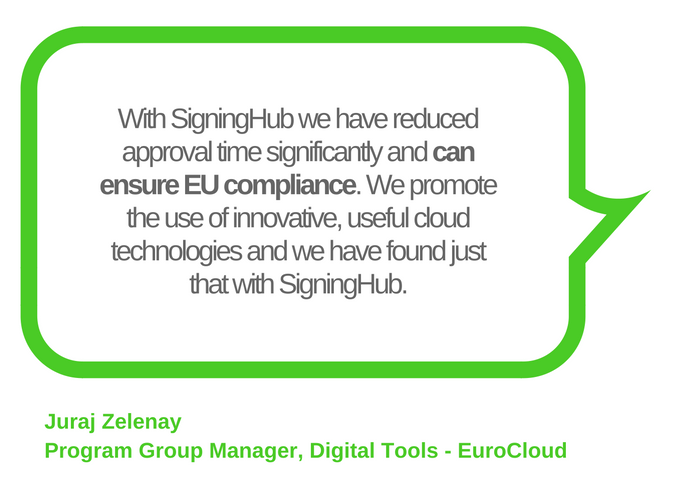 EuroCloud ensures EU compliance with SigningHub