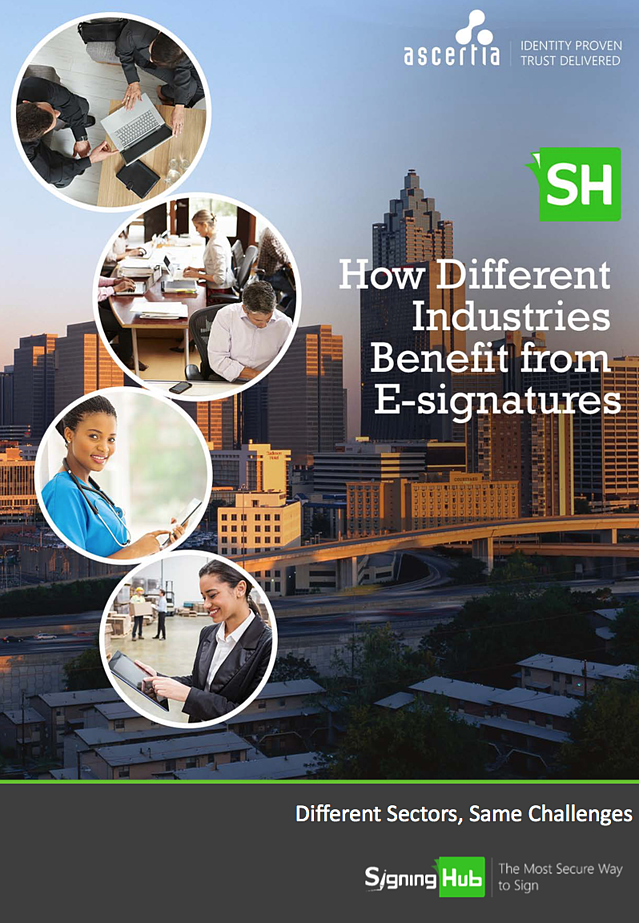How different industries benefit from e-signatures eBook